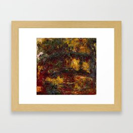 The Japanese Footbridge, Giverny by Claude Monet Framed Art Print