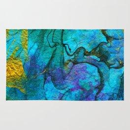 Multicolored marble ii Rug