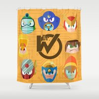 mega man Shower Curtains featuring Mega Man 2 by Jaime Ugarte