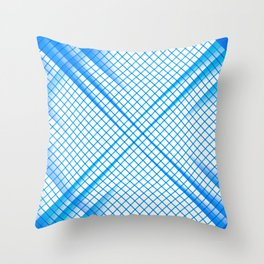 Stay Focused - Abstract Geometric Blue Throw Pillow