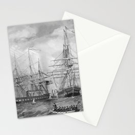 U.S. Naval Fleet During The Civil War Stationery Cards