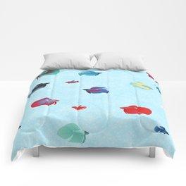 betta splendens royal blue male Comforters