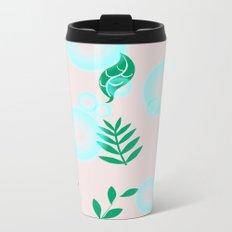 Green leaves with light Metal Travel Mug