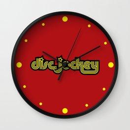 Disc Jockey Music Quote Wall Clock