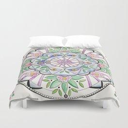 Mandala Floribunda Duvet Cover