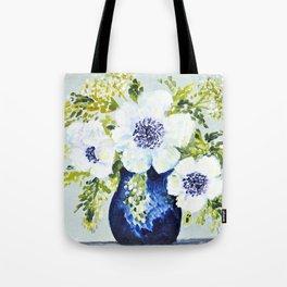 Anemones in vase Tote Bag