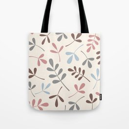 Assorted Leaf Silhouettes Pastel Colors Tote Bag