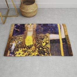 Gustav Klimt - Pallas Athena - Digital Remastered Edition Rug