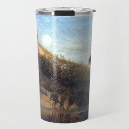 Aaron Draper Shattuck - Berkshire Foothills, Full Moon Over Meadowbrook (1864) Travel Mug