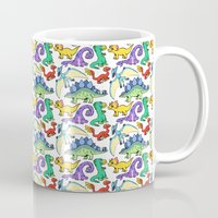 dinosaurs Mugs featuring Dinosaurs!!!! by Morgan