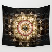 chandelier Wall Tapestries featuring The Chandelier by Blink Photography