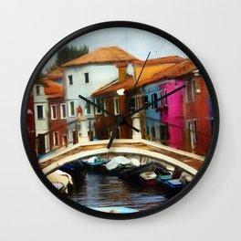 Burano Bridge - Revised 2020 Wall Clock