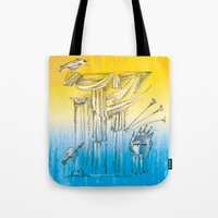 theater Tote Bags featuring Theater by Boris Burakov