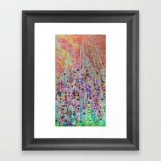 Firework Flowers Framed Art Print