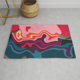 liquid shapes Rug