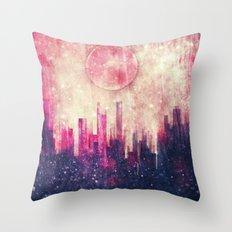 Mysterious city Throw Pillow