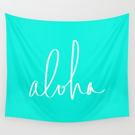 Aloha Tropical Turquoise Wall Tapestry