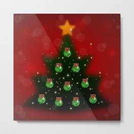 Christmas tree with background Metal Print