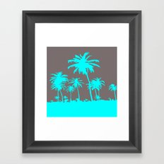 Turquoise Palm Trees Framed Art Print