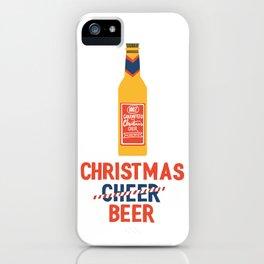 CHRISTMAS BEER iPhone Case