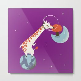 Space giraffe Metal Print