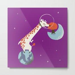 Space giraffe Metal Print