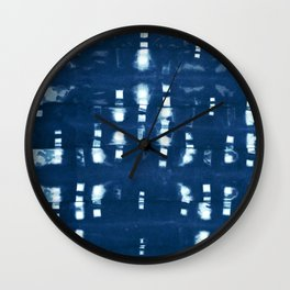 Shibori Clothespins Wall Clock