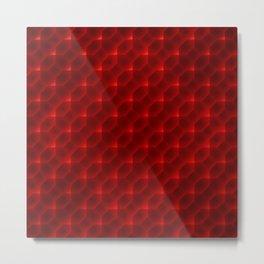 Red Pattern Metal Print