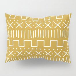Mustard Mud Cloth Pillow Sham