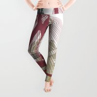 poster Leggings featuring Sao Paulo skyline poster by Paulrommer