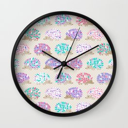Hedgehog polkadot Wall Clock