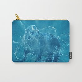 Abstract water South American sea lion Carry-All Pouch