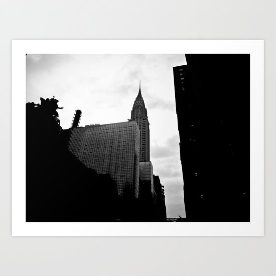 NEW YORK//SILHOUETTE Art Print