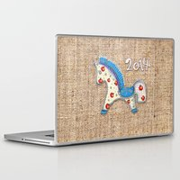 calendar Laptop & iPad Skins featuring 2014 horse calendar by Katja Main