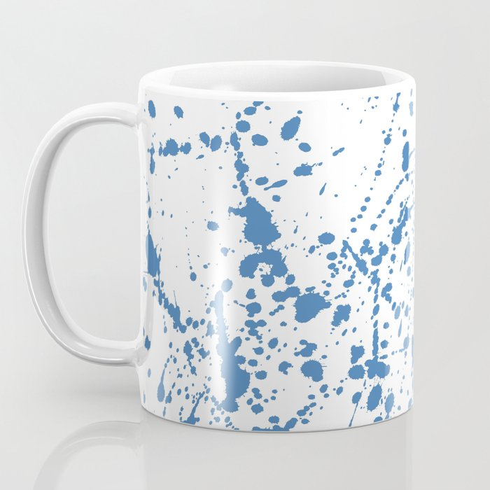 Splat Blue on White Coffee Mug