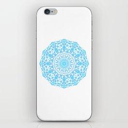 Mandala 12 / 4 eden spirit light blue turquoise iPhone Skin