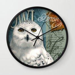 The Snowy Owl Journal Wall Clock