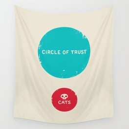 Circle of Trust vs. Cats Wall Tapestry