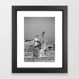Desert Surreal Collage Framed Art Print