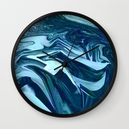 Turquoise + Teal Marble Wall Clock