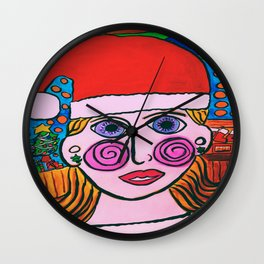 """Mary's Happy Christmas"" Wall Clock"