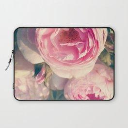 Shabby Chic Flowers, Ranunculus Roses, Spring, Romantic Floral Decor Laptop Sleeve