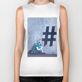 #Hashtag Biker Tank