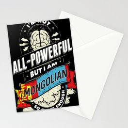 I'm Mongolian Proud Country All Powerful Stationery Cards
