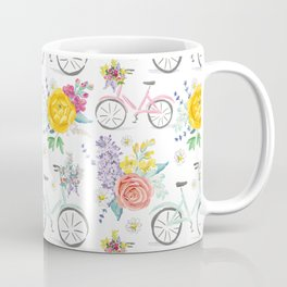 Bike and bouquets pattern Coffee Mug