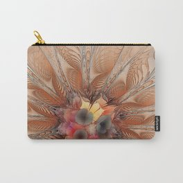 Soft Fractal Flower Carry-All Pouch