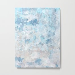 Graffiti dream - blue and nude Metal Print