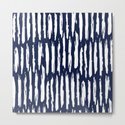 Vertical Dash White on Navy Blue Paint Stripes by followmeinstead