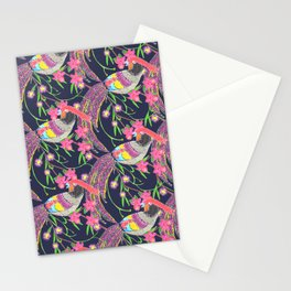 Paper Cut Birds [dark] Stationery Cards