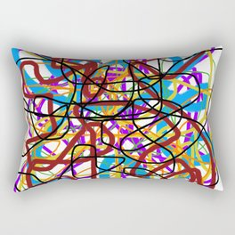 Rainbow Energy Abstract Digital Painting Rectangular Pillow